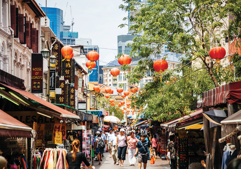Singapore's Chinatown is comprised of five districts, each a destination for retail, culture and tasty fare.