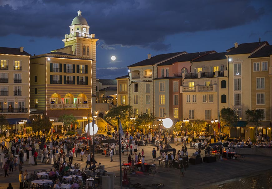 Advertising Lifestyle Portofino Bay Hotel PBH Images captured during filming with Adrenaline Films Harbor Nights