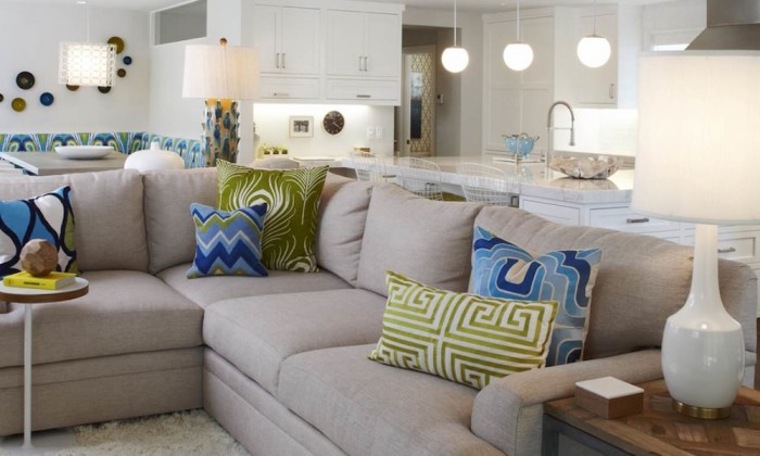 Image  Eric Aust Architect  original photo on HouzzFind the Perfect Combination of Throw Pillows   Long Island Pulse  . Living Room Accent Pillows. Home Design Ideas