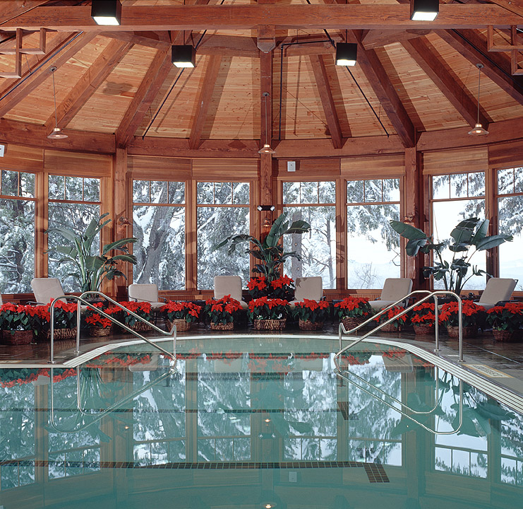 Indoor Pool with Poinsettias - Jim Smith Photography