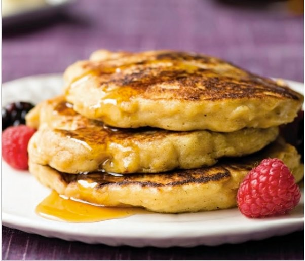 Lemon Ricotta Pancakes made from Matzo. image: facebook.com/DKDining