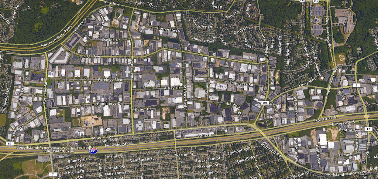 Hauppauge Industrial Park Map overview