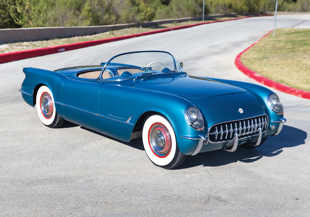 Futuristic and powerful, the 1954 Corvette is America's sports car.