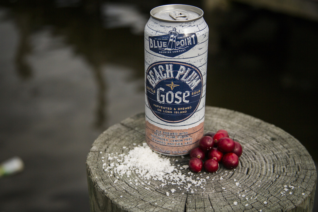 The Beach Plum Gose is made from Long Island wild plums
