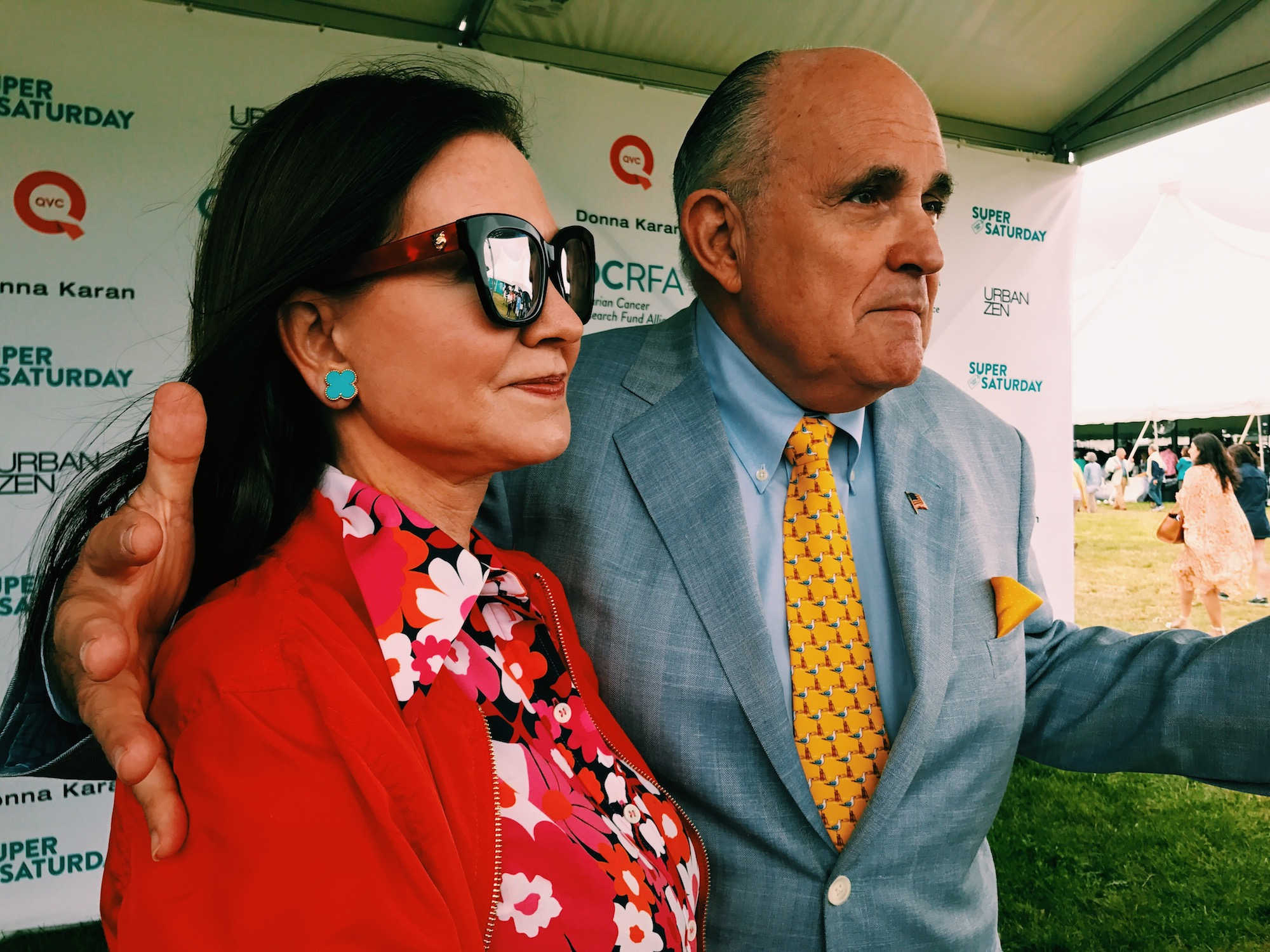 Rudy Giuliani and his wife. Image: gianna barberia