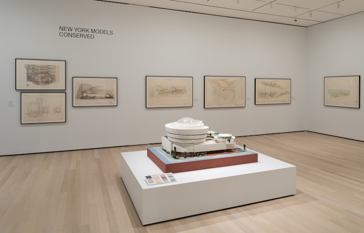 A restored model of the Guggenheim Museum. The Frank Lloyd Wright Foundation Archives, The Museum of Modern Art, Avery Architectural & Fine Arts Library, Columbia University, New York