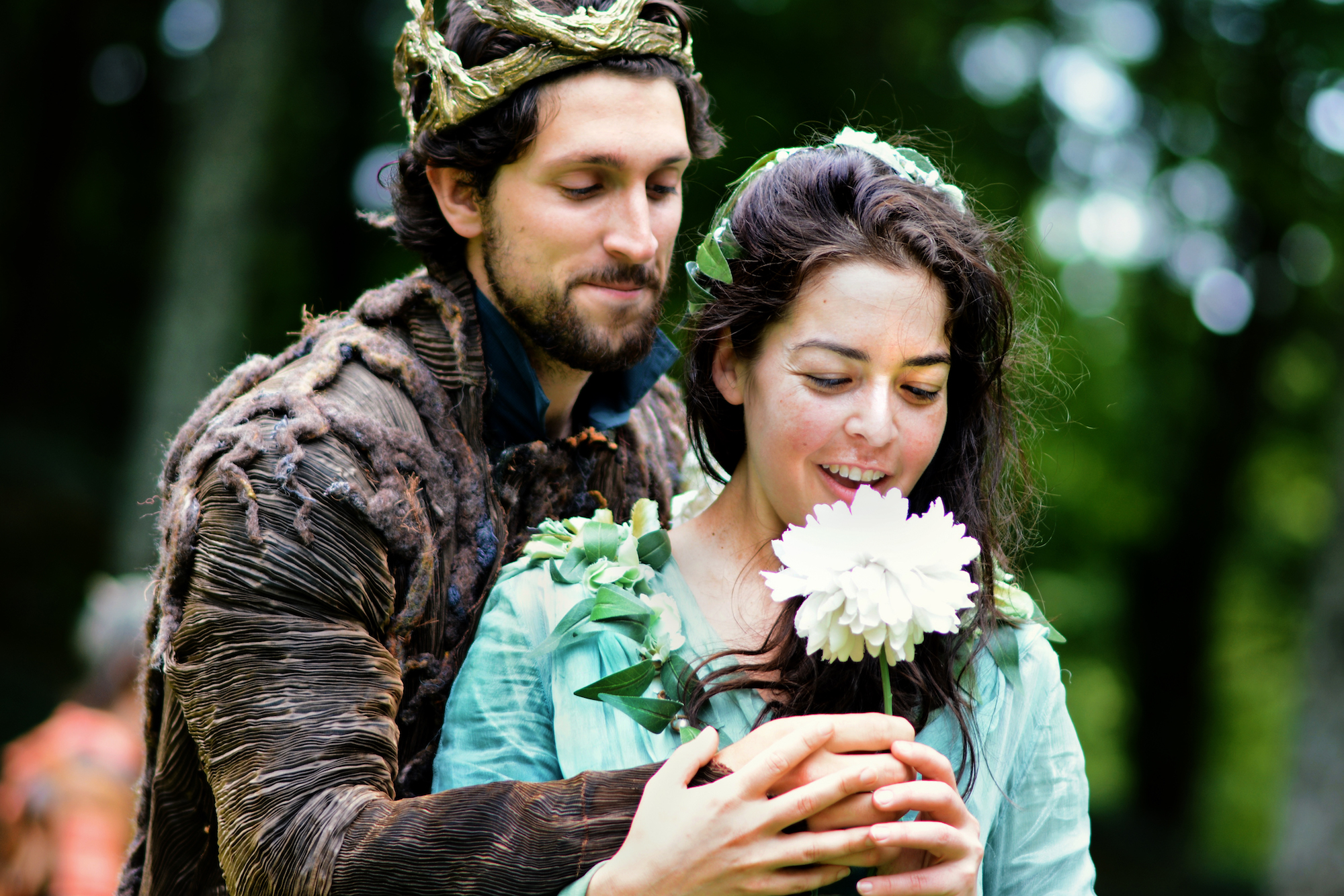 David Bertoldi and Kate Kenney in A Midsummer Night's Dream