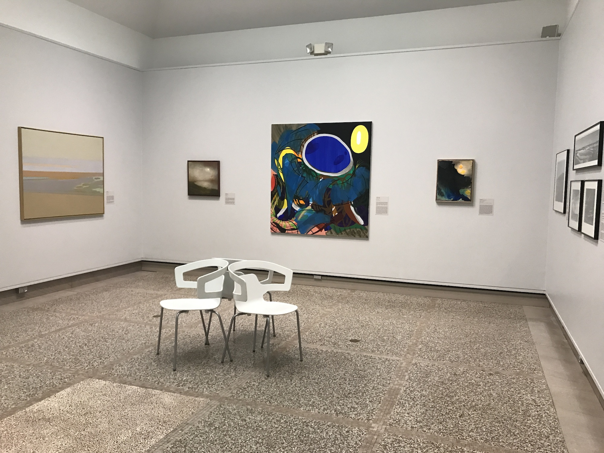 The final gallery in the exhibit, which includes more works in the modernist and abstract styles. image: gianna barberia