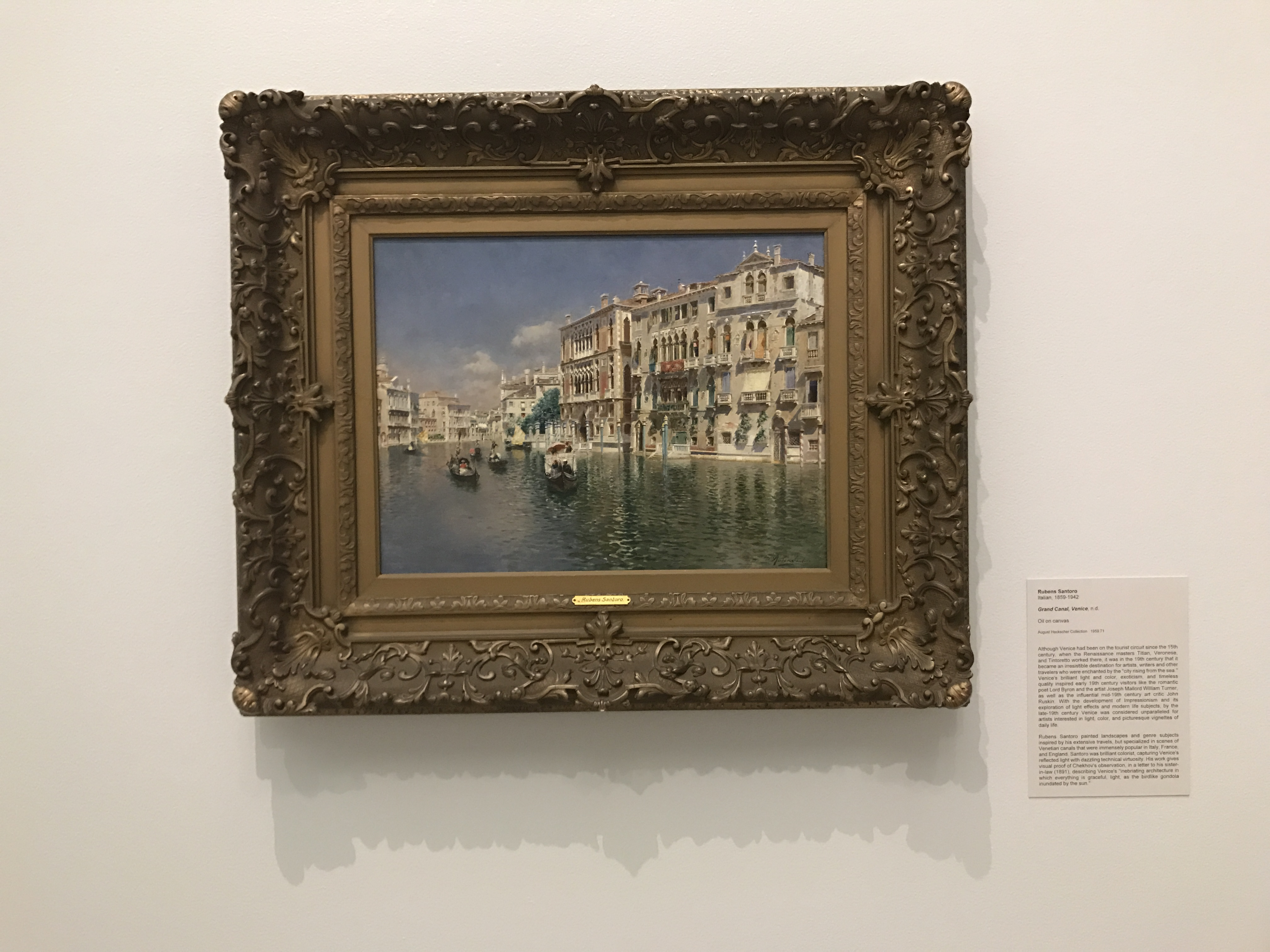 "Santoro's ""Grand Canal, Venice."" image: gianna barberia"