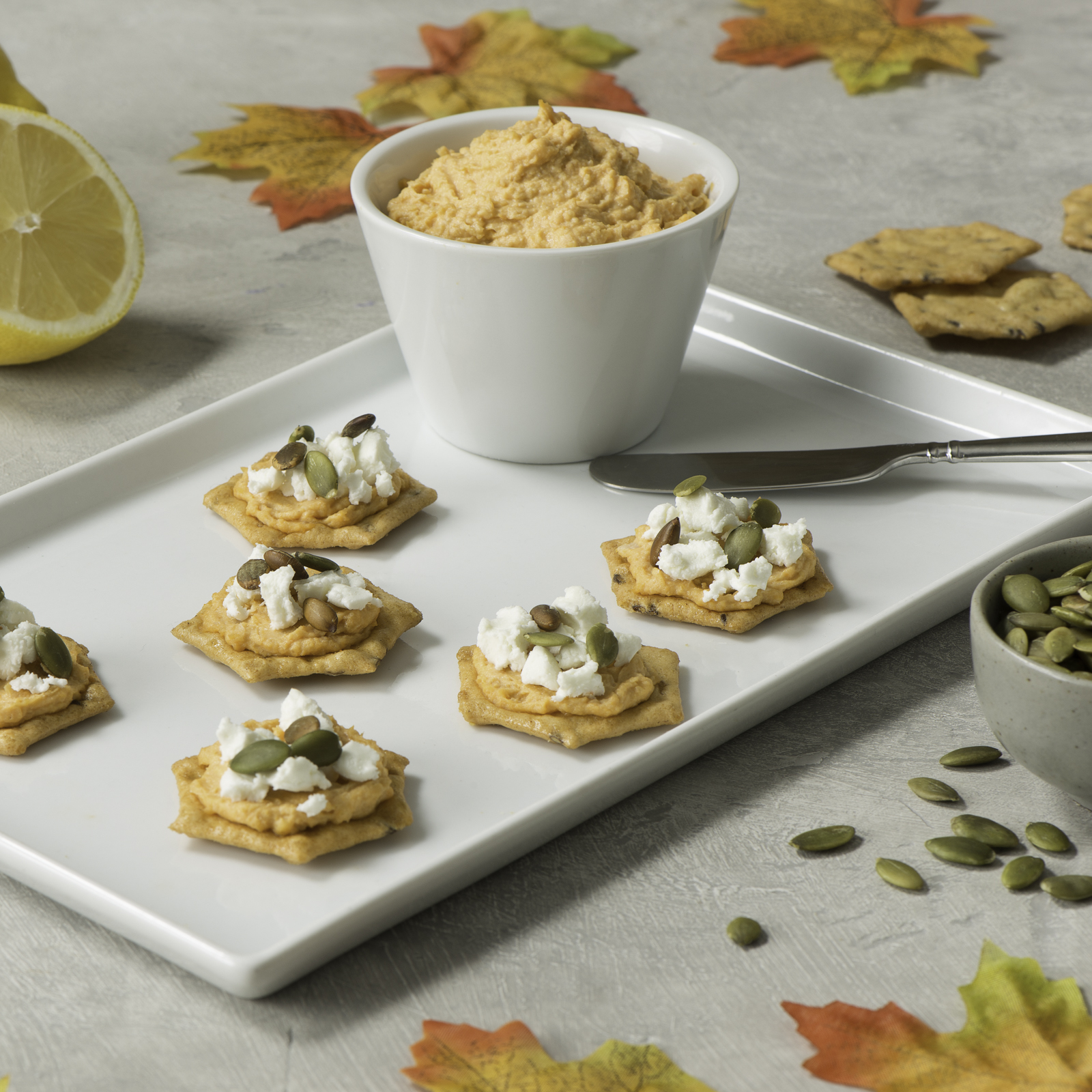 Sweet Potato Hummus and Goat Cheese Snacks-035