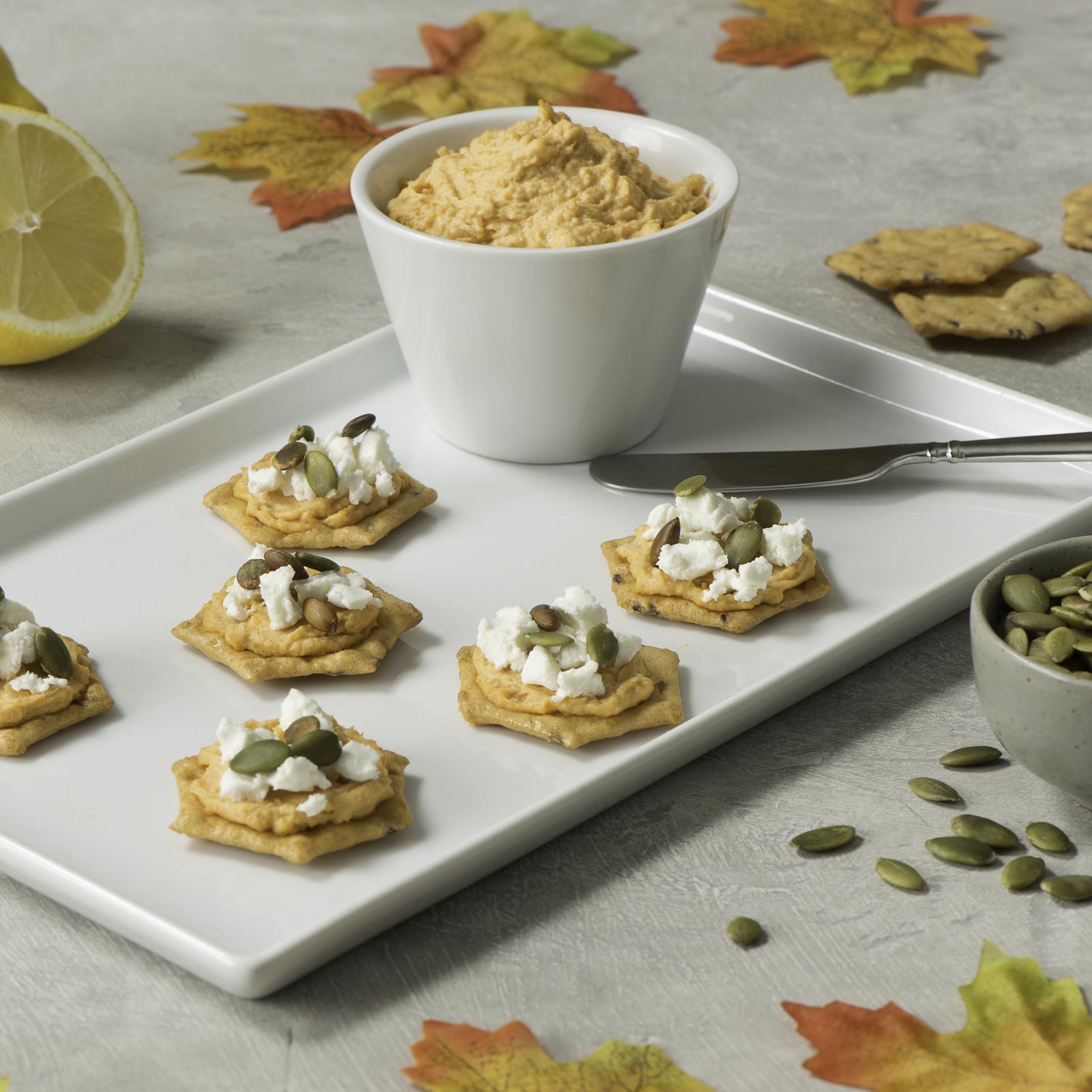 Sweet Potato Hummus and Goat Cheese Snacks-035