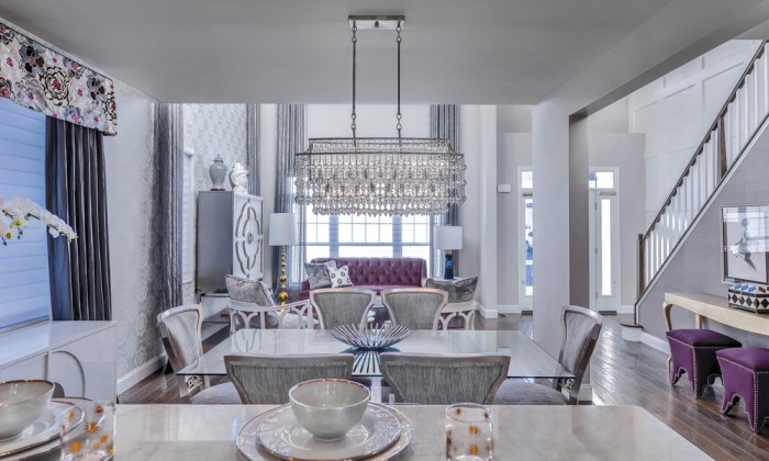 The Dining Room Chandelier, Found At High Point Furniture Market In North  Carolina, Sets A Tone Thatu0027s Both Formal And Inviting Image: Ric Marder