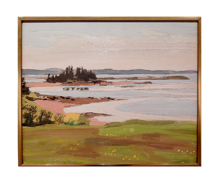"""Pea Point from South Meadow,"" 1974 by Fairfield Porter image: adel gorgy"