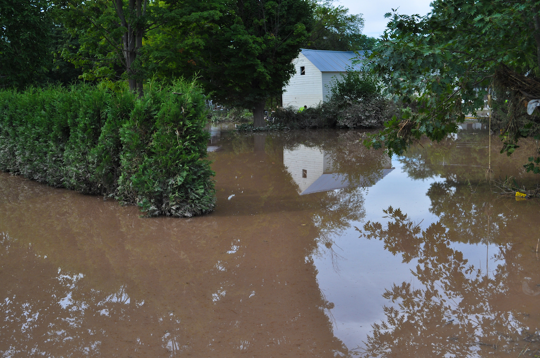 Water remained in upstate New York after Hurricane Irene passed through. image: fema