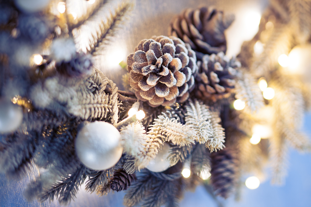 Christmas wreath closeup