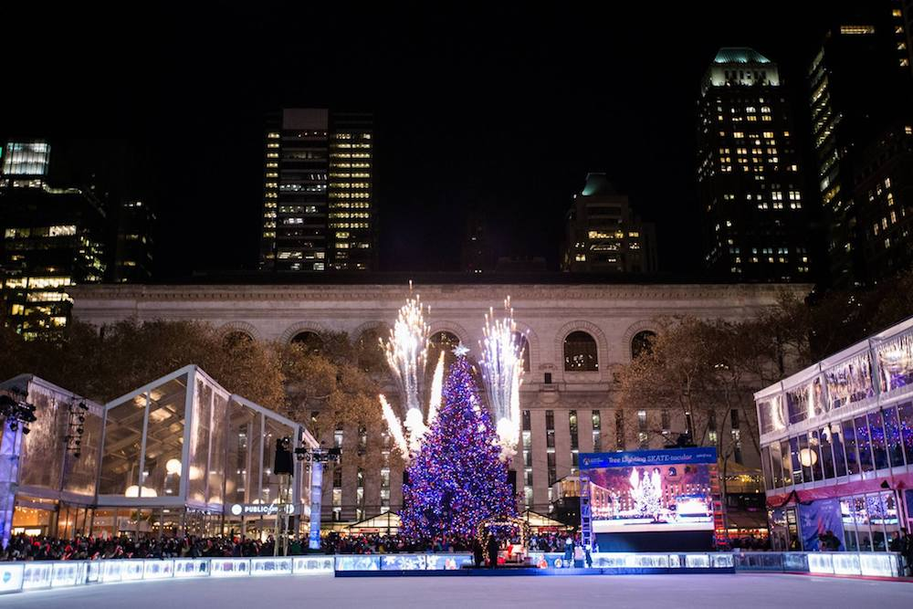 The Bank of America Winter Village Tree