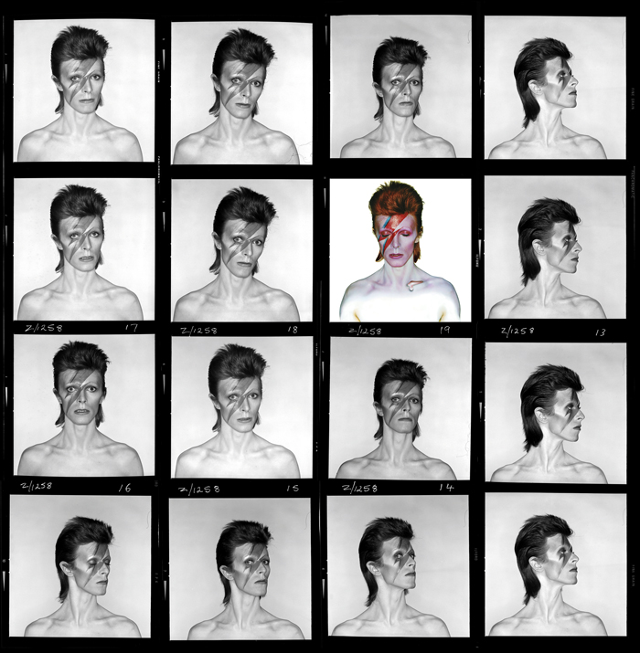 Aladdin Sane contact sheet