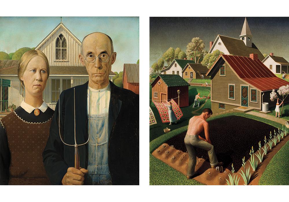 Grant Wood paintings