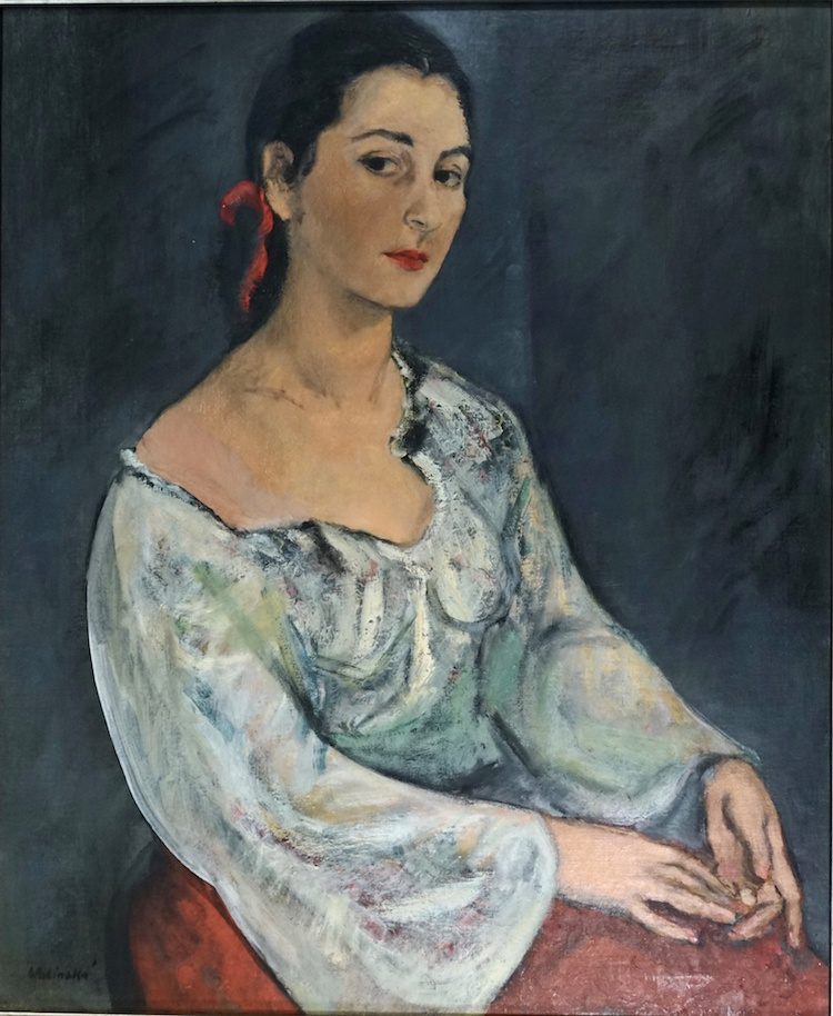 Self-Portrait, Paris, 1927 - - oil on canvas, 34x28