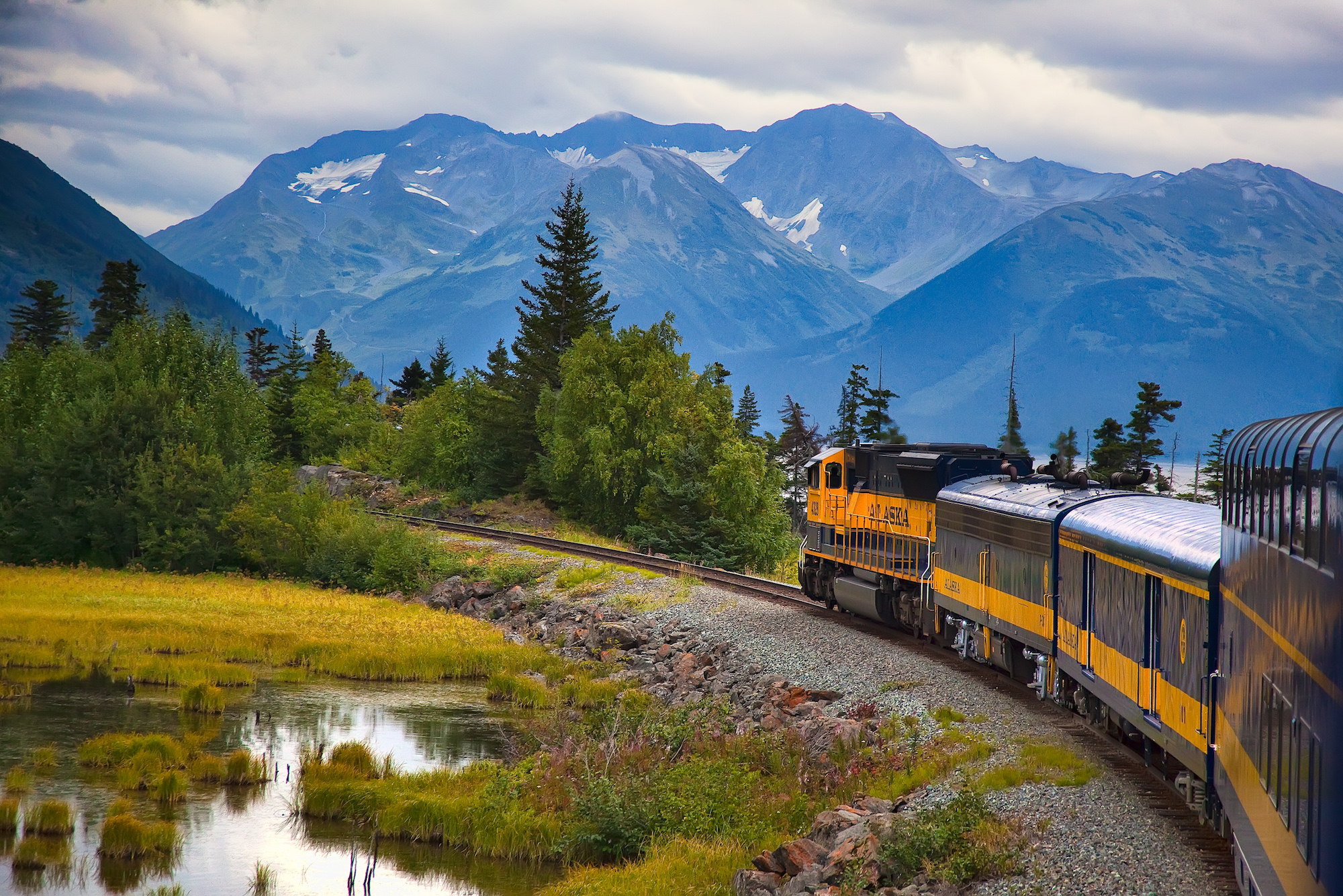 Alaska Railroad along Turnagain Arm