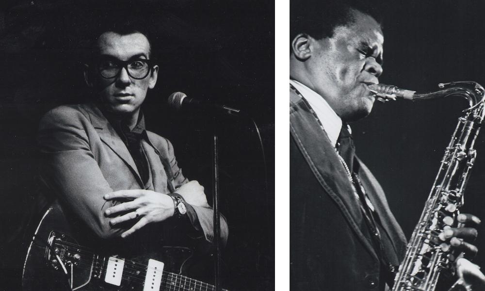 Elvis Costello, left, and Stanley Turrentine.