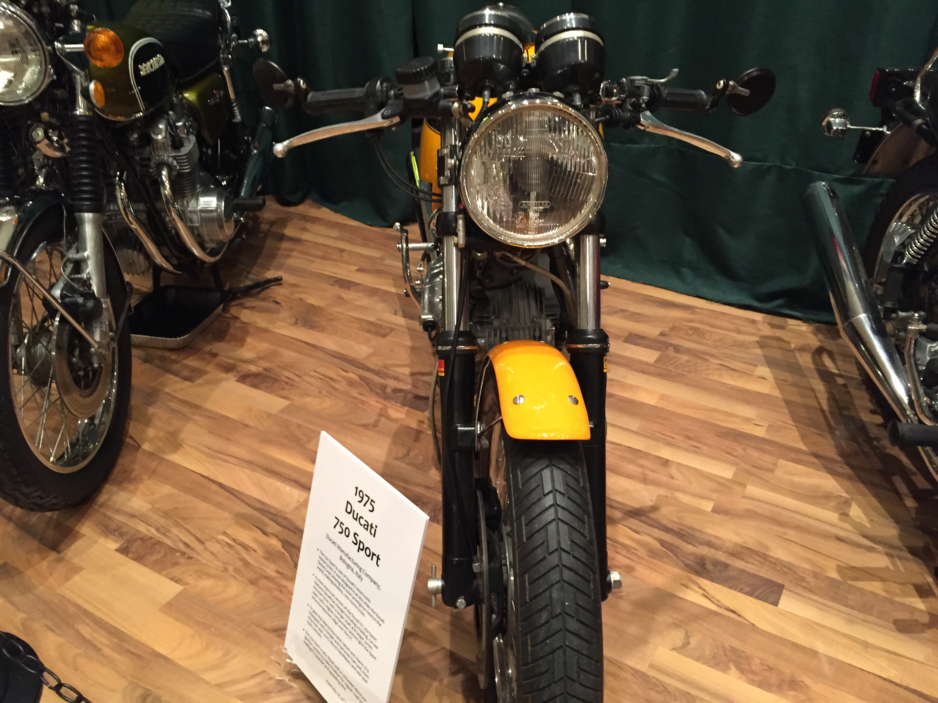 A 1975 Ducati 750 Sport from Billy Joel's 20th Century Cycles shop in  Oyster Bay